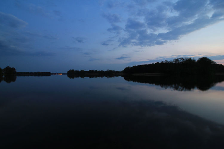 Blue Dusk Landscape Light Masuren Masuria Mazury Night No People Outdoors Symmetry