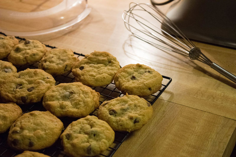 Cookies Baking Chocolatechipcookies Close-up Cookie Day Food Food And Drink Freshness High Angle View Indoors  Indulgence No People Preparation  Ready-to-eat Sweet Food Unhealthy Eating Wisk