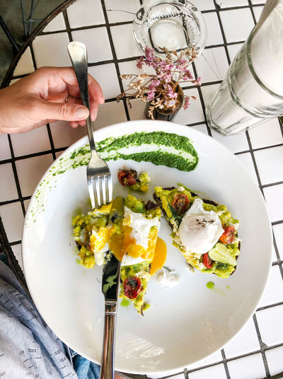 Avocado toast Avocado Toast  Eating Hipster Cafe Poached Eggs  Healthy Breakfast Clean Eating Healthy Eating Food And Drink Freshness Food Plate Wellbeing Breakfast At The Beach Egg Vegetable Breakfast Avocado