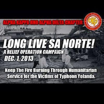 Yolanda Relief Operation Alphakapparho AlphaDelta Cdu Keeptheburningfirealive Longlivenorte YolandaPh SKEPTRONS Staystrong Barogsugbo