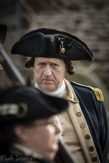 American Revolutionary War Close-up Headshot Historical Person Portrait Reenactment Selective Focus
