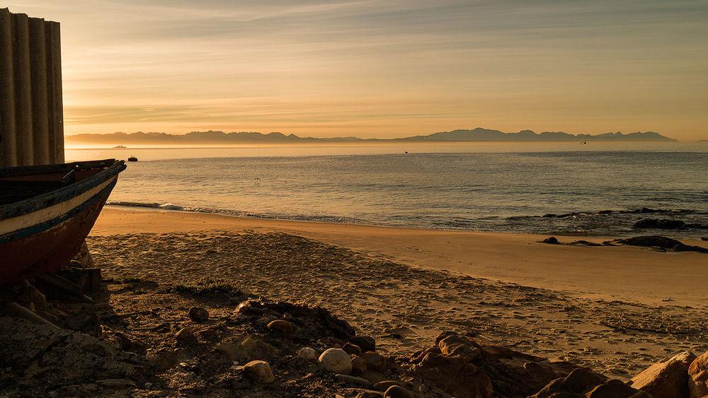 Beach Cloud - Sky Coastline False Bay Horizon Over Water Ocean Sunrise Tranquil Scene Tranquility