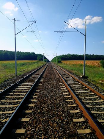 Railway to somewhere.. Railway Railway Track Nature Forrest Parallel Rural Scene Railroad Track Rail Transportation Train Train Track