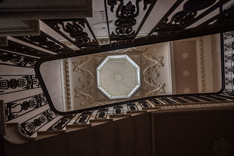 Directly below shot of ceiling