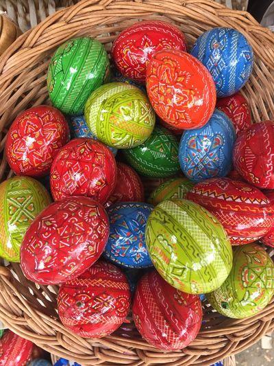Easter Ready Easter Eggs Colors Romanian Tradition Traditions Romania Eggs Art Decorated Eggs Egg Basket