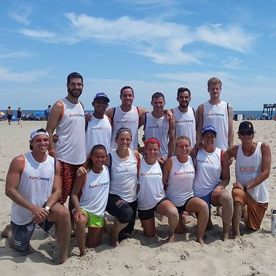 Humiliswag heading to the finals of the OCBU Frisbee Tournament, match starts at 3:00 pm next to the Jolly Roger Pier Oceancitycool OceanCity Maryland ocmd sports frisbee beachultimate