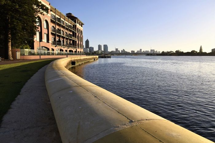 Riverside walkabout City Clear Sky Cityscape Water Sky Riverside Buildings Architecture Taking Photos Enjoying Life Relaxing