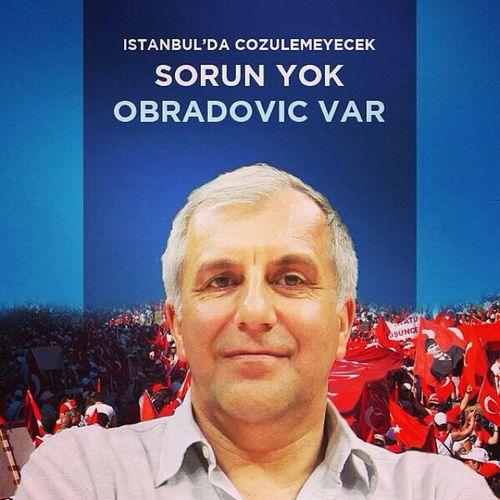 Istanbul da cozulemeyecek sorun yok Obradovic var Fenerbahce  Fenerbahceulker cska euroleague basketbol basketball