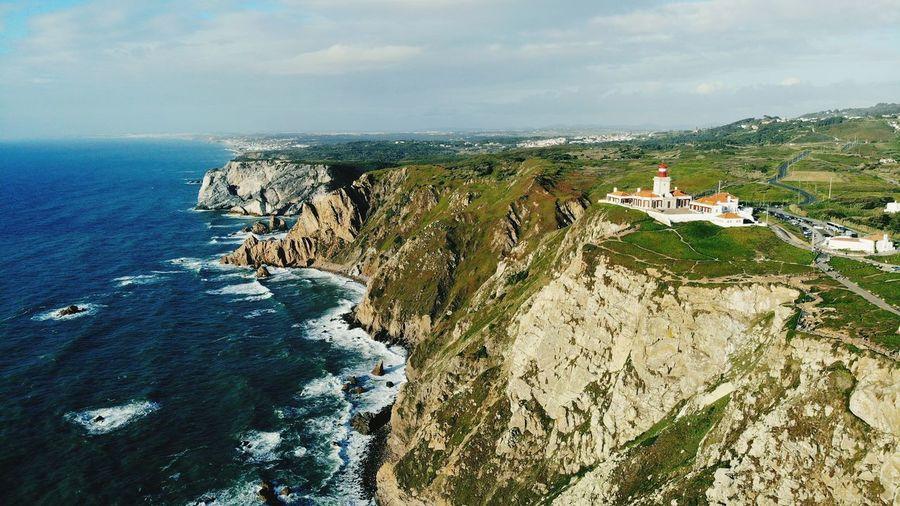 Water Sea Beach Lighthouse Sky Architecture Horizon Over Water Building Exterior Rocky Coastline Seascape Coast