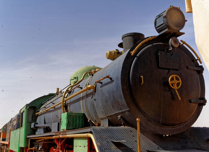 The ancient steam locomotive, still in use, in the desert of Wadi Rum, Jordan Lawrence Machine Steam Wadi Rum Abandoned Antique Coal Day History Locomotive Metal Mode Of Transportation Nature No People Old Outdoors Public Transportation Rail Transportation Retro Styled Sky Steam Train The Past Train Train - Vehicle Transportation