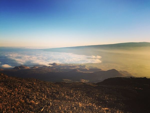 Beauty In Nature Tranquility Above The Clouds Hawaii Scenics Mountain Sky