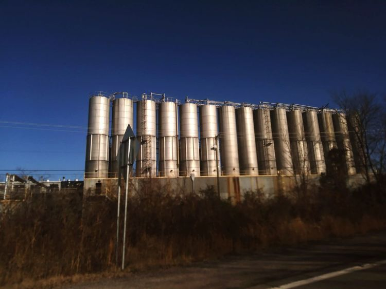 Railroad Track Railway Transportation Train Tracks Storage Tanks Vegetable Oil Ohio Agriculture Surplus Storage Business Finance And Industry Sky Outdoors No People Clear Sky Day