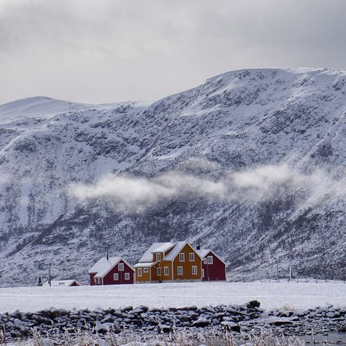 """""""Sometimes it snows in April..."""" Nature Landscape Clouds And Sky Mountains EyeEm Best Shots Eye4photography  Snow Showcase April Norway Architecture Rural"""