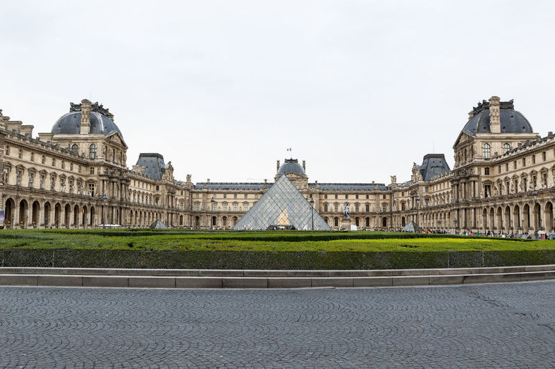 View of louvre