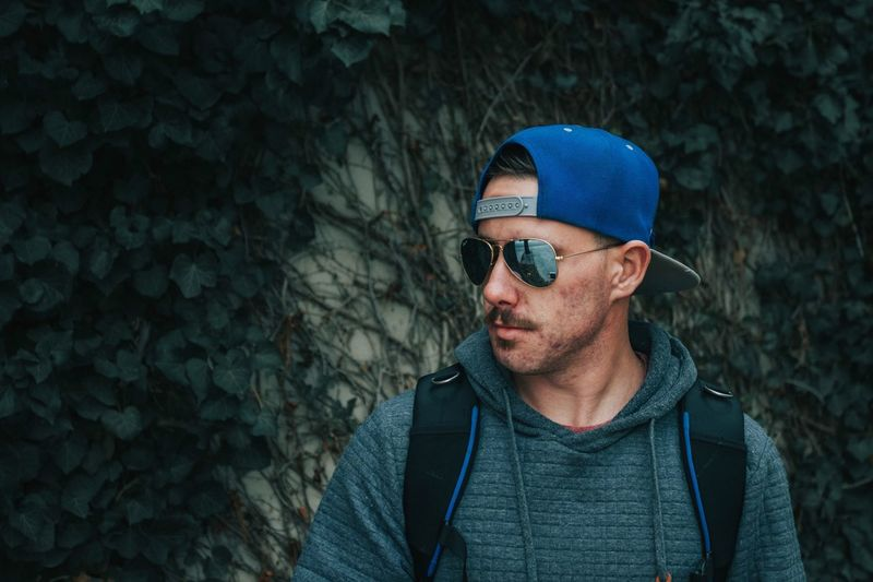 Self portrait Portrait EyeEm Selects One Person Clothing Serious Young Adult Young Men Hat Adult Men Glasses Fashion Cap Lifestyles Casual Clothing Sunglasses Portrait Real People Blue Beard Hipster - Person Warm Clothing