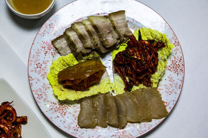 A Taste Of Life Ripened Skate Ripened Kimchi Steamed Pork Seasoned Kimchi Food Strong Flavour Strong Smell
