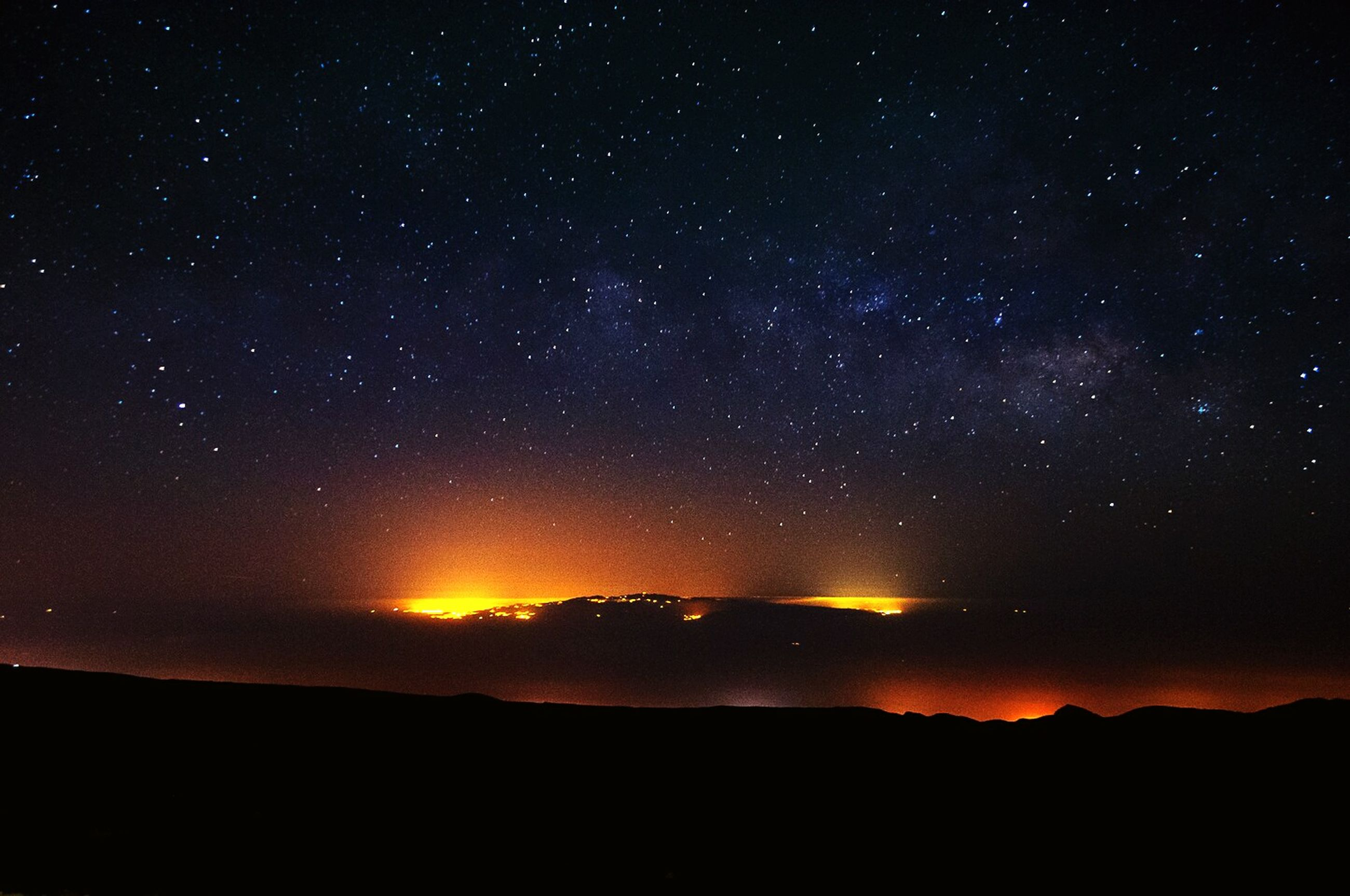 scenics, night, tranquil scene, star - space, beauty in nature, star field, astronomy, tranquility, sky, space, galaxy, nature, star, idyllic, majestic, silhouette, dark, landscape, milky way, infinity