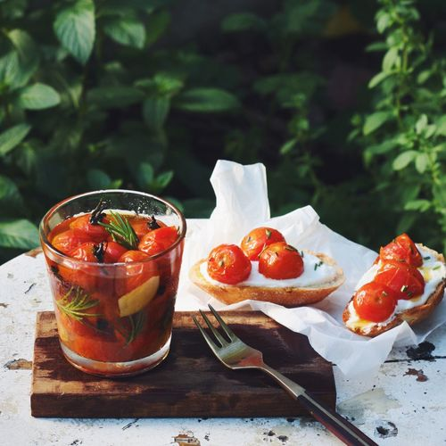 Marinated Cherry Tomatoes Garlic Oliveoil Rosemary Preserve Showcase July