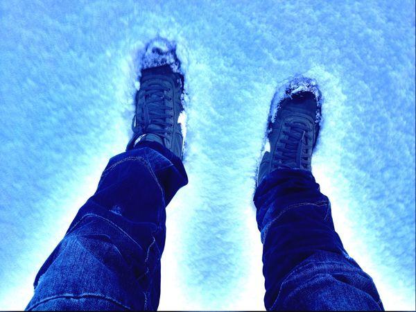 Snow ❄ Nike Feet Snowing