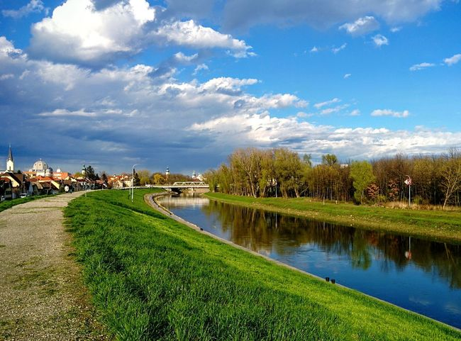 Landscape Reflection Water Tree Springtime Outdoors Vacations No People Beauty In Nature Sky Nature Hometown Sunshine thefiveChurches Raab River Riverside Raba Neighborhood Map