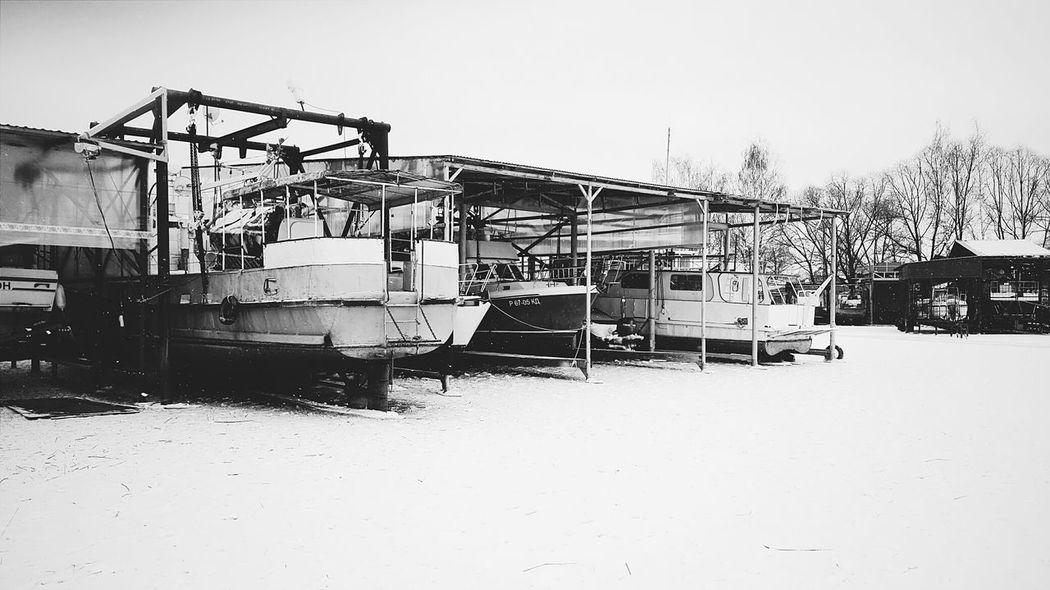 Lake Winter Yachts Zavidovo Ice Cool Holidays Enjoying Life B&w