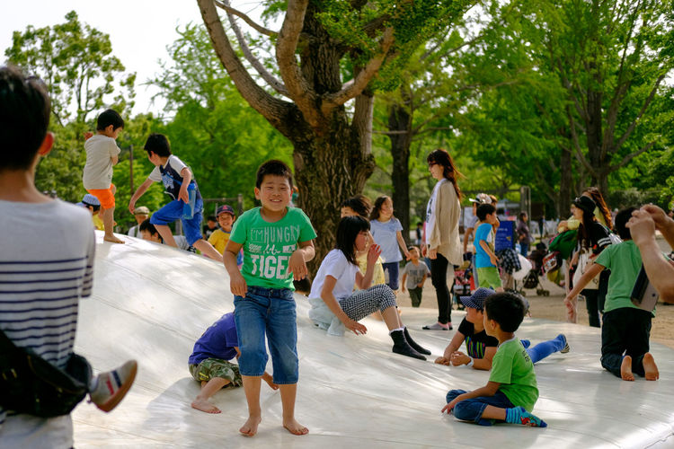 Children playing at park