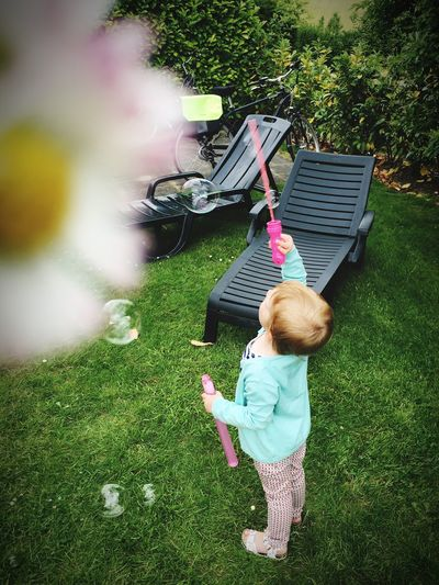 When I grow up, I want to be a fairy!!! Girl Soap Bubbles Fairy Mykid Childhood Grass