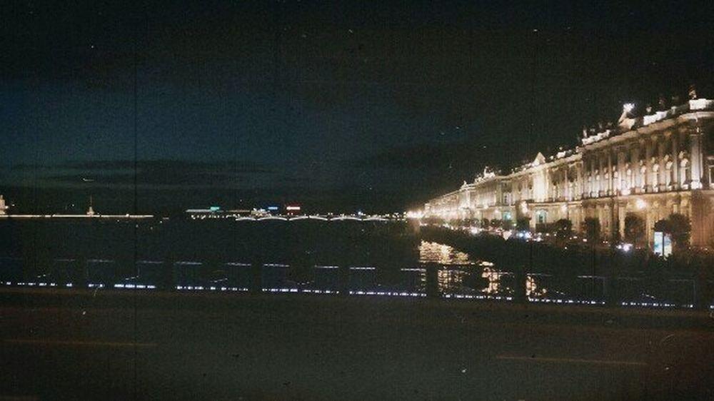 Night Lights Favorite City Saint Petersburg