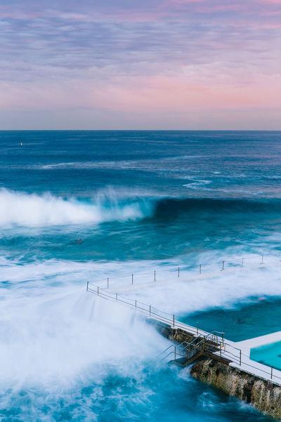 """when did the lucid dream begin?"" 🌊✨ #vanillasky #wetdreams #bondibeach #icebergs #bondiicebergs #sydney #australia #winter #canon #canon6d #travel #wander #vsco #vscocam #wethecreators #arteverywhere #stayandwonder Australia Bondi Beach Magic Hour New South Wales  Beauty In Nature Blue Bondi Icebergs High Angle View Horizon Over Water Long Exposure Nature No People Outdoors Scenics Sea Sky Slow Shutter Slow Shutter Speed Sunset Swimming Pool Sydney Tranquil Scene Tranquility Water Wave Lost In The Landscape The Great Outdoors - 2018 EyeEm Awards"