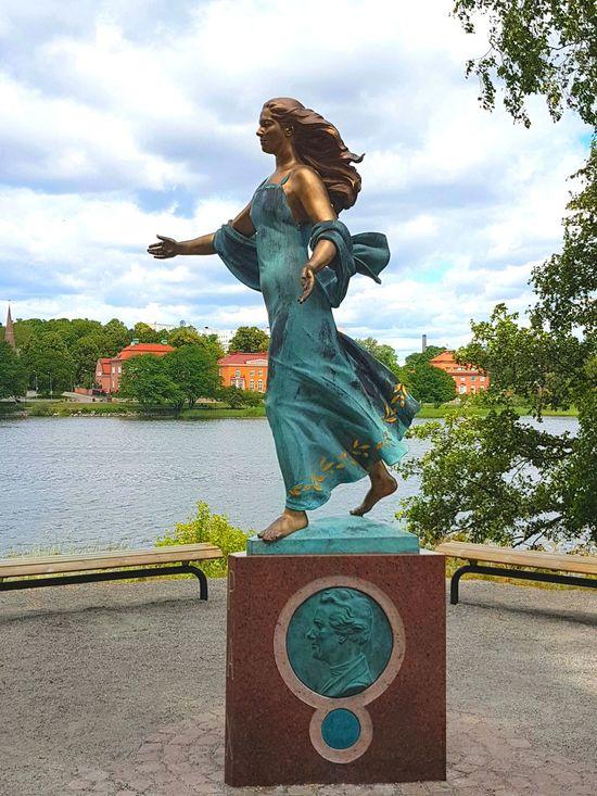 Taking Photos Statue Stockholm, Sweden Djurgården Samsung Galaxy S7 Statues/sculptures Beautiful Woman Beautiful Colors Beautiful Scenery Water