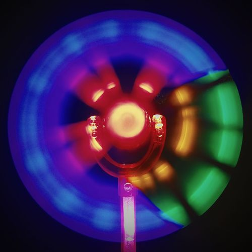 Close-up Heat - Temperature No People Abstract Black Background Science Technology Illuminated Neon Eyesight Night Helium Long Exposure Circle Colors Color Splash Colors and patterns Lights And Shadows Lights & Shadows CIRCLE Of LIFE