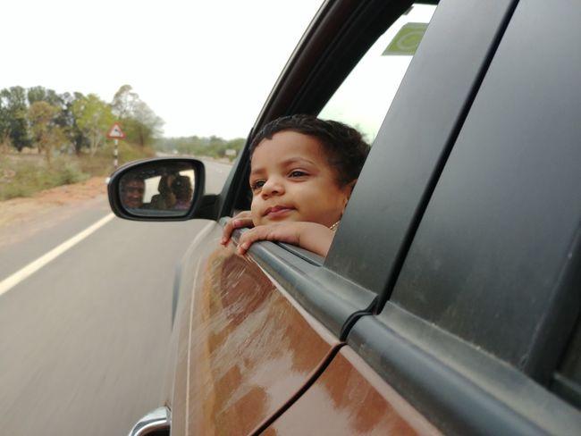 Long Drive Road Wind Window Transportation Mode Of Transportation Motor Vehicle Car Travel Portrait Window Child Headshot Looking Through Window Road Trip Outdoors Females Land Vehicle