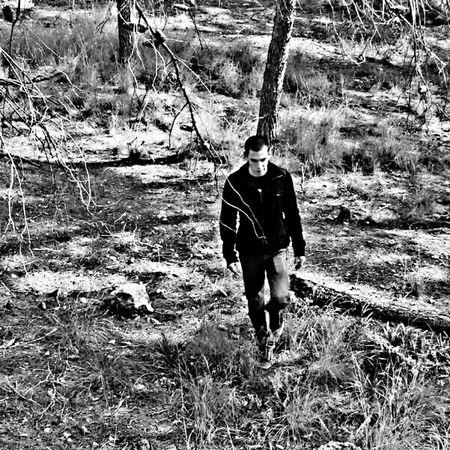PhonePhotography Sjmike Israel Idf Meizumx4 Blackandwhite Person Forest Trees White