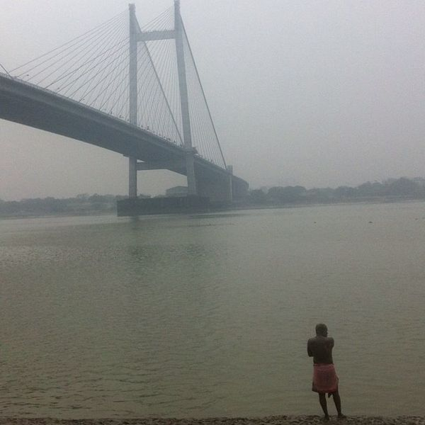 Morning Mud Bath BanksOfRiverGanga Mudbath Fog RiverDolphins ?
