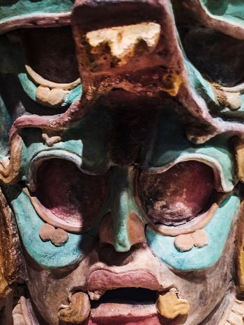 Detailed Warrior Texture Art Art History Culture Masks Statue Art And Craft Sculpture No People Multi Colored Close-up Indoors  Day