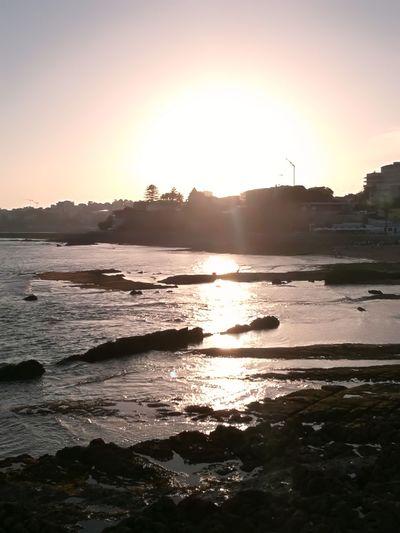 Sunset Sea Beach Tranquility Cascais E Estoril