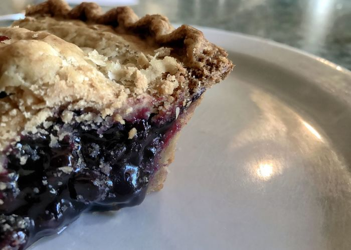 Blueberry pie with room for writing. Blueberry Pie Pie Fruit Pie Bluberries Blueberry Purple Sweet Food Food Plate Dessert Freshness Horizontal Ready-to-eat Indulgence Close-up Sweet Pie Food Stories