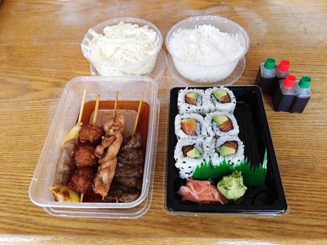 Show Us Your Takeaway! Japanese Food Food Maki Sauce Chicken Kebab Beef Kebab Rice