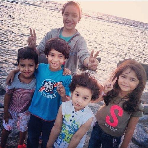 صغار جدة بحر الكورنيش ربي يحميهم