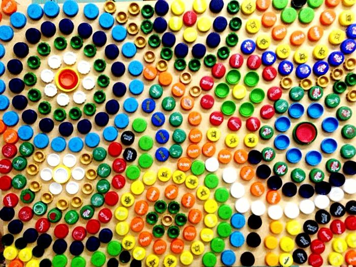 Multi Colored No People Handmade Art, Drawing, Creativity Plastic Bottle Of Water
