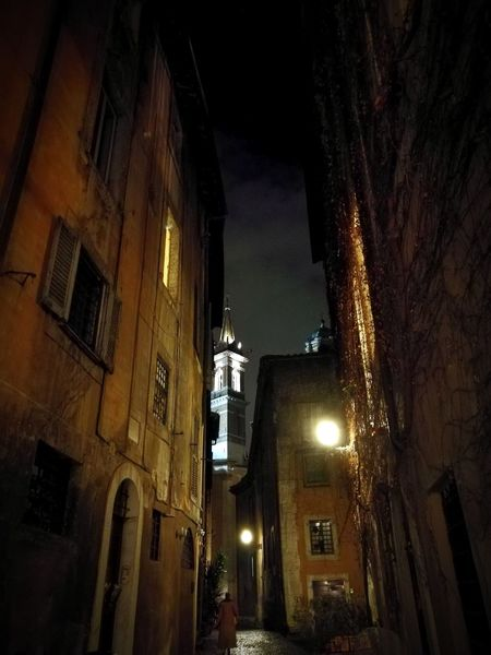 rome street Architecturelovers Nightphotography Rome Rome Italy🇮🇹 Streetphotography Night Illuminated Architecture Built Structure Low Angle View Building Exterior No People City Outdoors Street Light Moving Around Rome