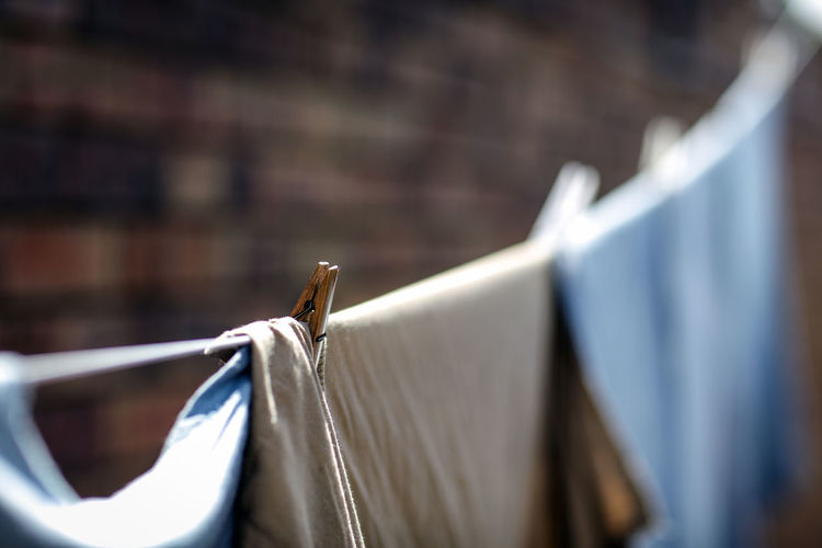 Close-Up Of Laundry On Clothesline