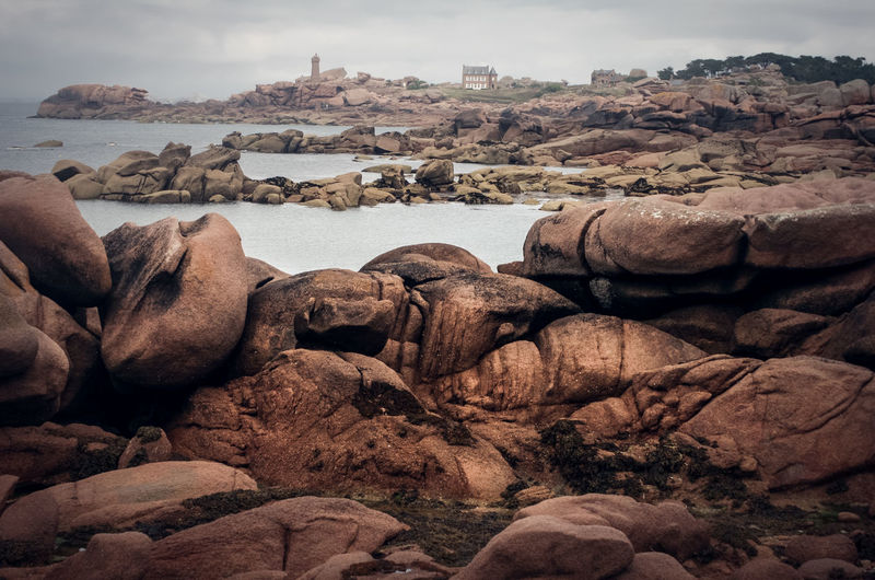 Atlantic Ocean Bretagne Brittany Landscape_Collection Beach Beauty In Nature Day Landscape Nature No People Outdoors Pebble Beach Rock - Object Rock Formation Scenics Sea Sky Tranquil Scene Tranquility Water