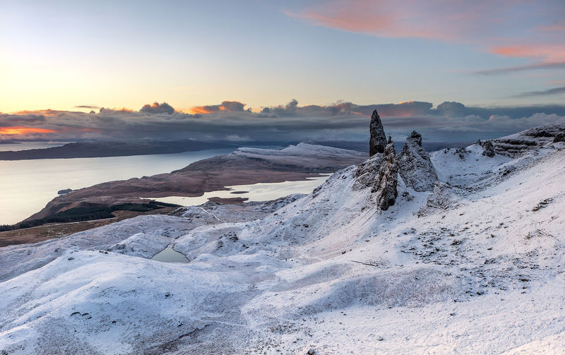 I've had worse mornings Skye Sunset Snow Cold Temperature Winter Landscape Mountain_collection EyeEm The Best Shots Skye Isle Of Skye EyeEm Selects EyeEm Best Shots Scotland Dramatic Sky Landscape Photography EyeEm Team EyeEm Best Edits EyeEm Selects