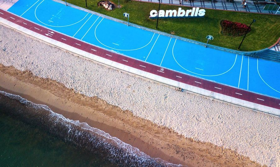 Aerial View Cambrils, Baix Camp, Province Of Tarragona Dji DJI Mavic Pro Sea Holiday Morning Water High Angle View Day Nature Outdoors