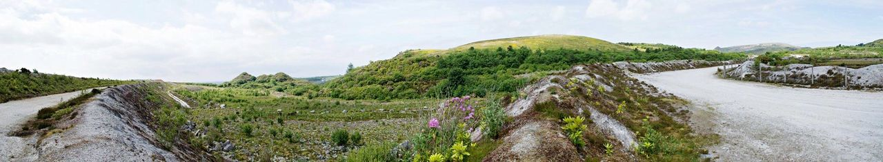 Panorama Panoramic Green Landscape Nature Beautiful Nature