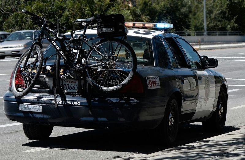 San Jose police cruiser and bike combo Police Cops Car Cruiser Sjpd Bicycle Patrol