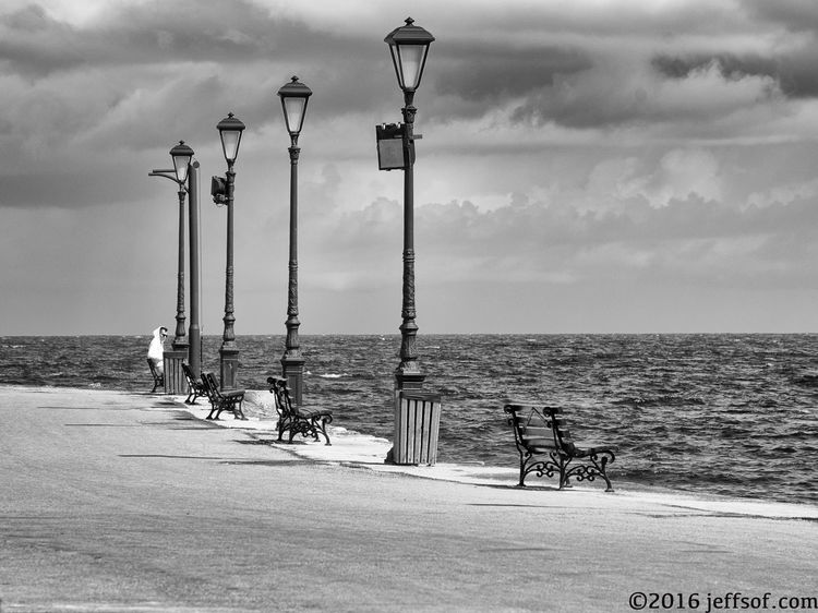 Benches Chania Old Port Cloud - Sky Hoodie Horizon Over Water Old Harbour Outdoors S Sea Sky Street Lamp Street Light Water
