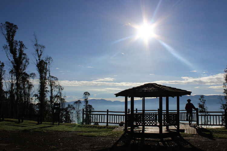 Sun Shining Over Scenic Lookout