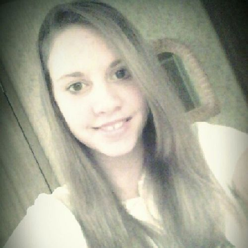 Hair Straightened for the Dance Tonight!(: <3